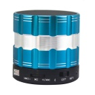 Mini Altavoz portátil Bluetooth V2.1 3W w / Micro USB / Mic / TF para IPHONE / IPAD - Azul + Negro