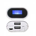 Soshine E4 External Portable 5200mAh Power Source Bank w/ Micro USB Cable for IPHONE + More - White