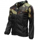 Thefree FB3408 Men's Ultralight Windbreaker Jacket - Camouflage + Black (Size L)