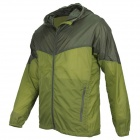 Thefree FB3408 Men's Ultralight Windbreaker Jacket - Army Green + Light Green (Size XL)