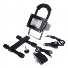 Recargable 10W 1150lm 6000K Luz LED Blanco Lámpara Ingeniería Spotlight w / Holder - Negro (220V AC)