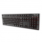QXJP USB Wired 104-Key Mechanical Keyboard - Black