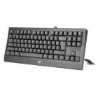JXJP USB Wired 87-Key Cherry MX Blue Switch Mechanical Keyboard - Black