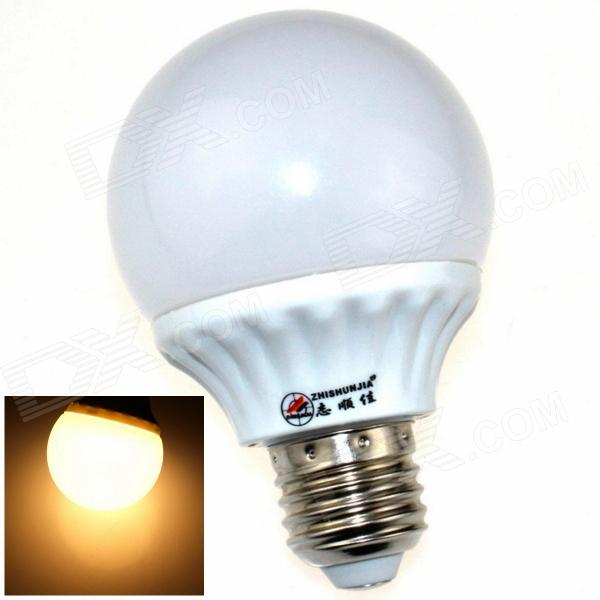 ZHISHUNJIA E27 7W 600lm 3000K 30 x SMD 2835 LED Warm White Light Lamp Bulb - White (AC 85~265V) e27 9w 760lm 6000k 30 smd 2835 led white light bulb ac 85 265v