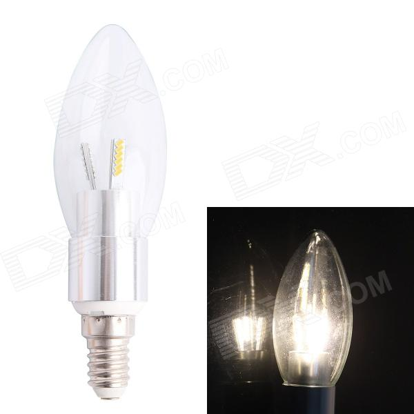 E14 3.5W 260lm 3000K 36 x SMD 3014 LED Warm White Candle Light Bulb - White (AC 220V) gc e14 3w 170lm 3000k 64 3014 smd led warm white light corn bulb ac 90 240v