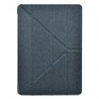 Devia Protective PU Leather Case Cover w/ Special Soft Foldable Stand for iPad Air - Silver + Black