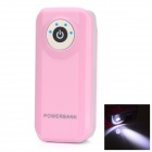 BP Fisheye 5500mAh Mobile Power Source w/ Stroboscopic LED Light for IPHONE / Samsung / HTC - Pink