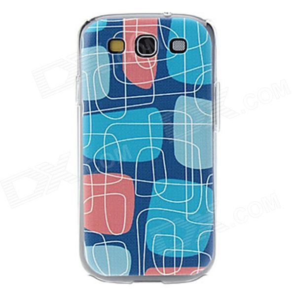 Kinston kst00022 Maze Pattern Protective Plastic Hard Back Case for Samsung Galaxy S3 i9300 - Blue kinston colorful flowers and butterflies pattern plastic protective case for samsung galaxy s3 i9300