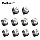 MaiTech 7 x 7MM 16V 100UF SMD Aluminum Electrolytic Capacitors - Silver + Black (10 PCS)