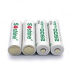 Soshine RTU Pre-Charged Rechargeable AA Ni-MH 2500mAh Batteries - White (4 PCS)