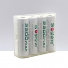 Soshine RTU Pre-Charged Rechargeable AA Ni-MH 2100mAh Batteries - White (4 PCS)