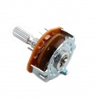 MaiTech 2 x 4-läge Rotary Switch Potentiometer - Silver + Orange (2 st)