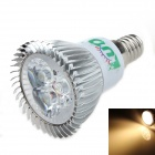LUO V10 E14 3W 300lm 3000K 3 x SMD LED Warm White Light Spotlight - Silver Grey + White (95~245V)