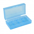 ABS 4 x CR123A / 2 x 18650 / 17670 / 16340 Battery Storage Case / Box - Translucent Blue