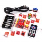 Mind+ Electronic Development Board + LED Modules + Relay + Sensor Blocks Kit - Red + Orange + Black