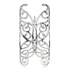 Hollowed Butterfly Style ABS Back Case Cover for IPHONE 5 / 5S - Silver