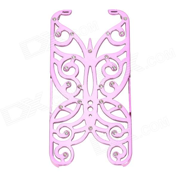 Hollowed Butterfly Style ABS Back Case Cover for IPHONE 5 / 5S - Pinkish Purple water drop embossed pattern style protective abs back case for iphone 5 green purple
