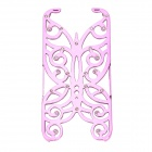 Hollowed Butterfly Style ABS Back Case Cover for IPHONE 5 / 5S - Pinkish Purple