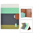 ZIDY Joint-013-Farben-Klapp-PU + PC Fall w / Auto-Sleep-Slot + + Halter für iPad AIR - Multicolor