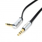 Green Connection AV119 3.5mm Jack Angled Male to Male Stereo AUX MP3 Cable for Car - Black (500cm)