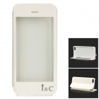 i&C Protective Flip-Open PU + PVC + Plastic Case w/ Touch Cover CID Window for IPHONE 5 / 5S - White