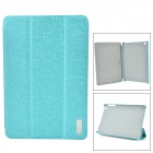 MCDODO Stylish Flip-open PU Case w/ Auto Sleep + 3-fold Holder Cover for IPAD MINI RETINA - Blue