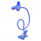 LENUO LY-CH01BL New Universal Double Clip Lazy Desktop Flexible Neck Clip Holder - Blue