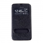 Protective Plastic Case Cover Stand w/ Visual Window for Samsung Galaxy S5 - Black
