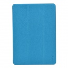 Devia Pine Needle Pattern 3-Fold Protective PU Leather Case Cover w/ Stand for IPAD AIR - Blue