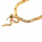 IN-Color S02001719 Punk Style Snake Shaped Zinc Alloy Pendant Necklace - Golden