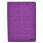 Devia Fashionable Cross Pattern Protective PU Leather Case Cover Stand for IPAD AIR - Purple