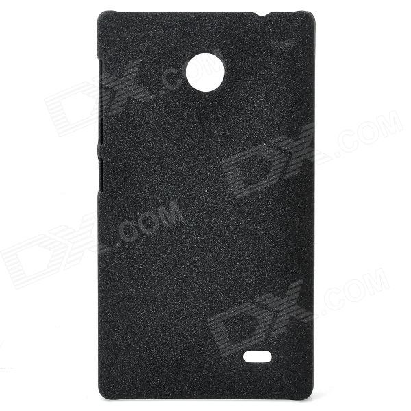 Quicksand Style Protective PC Back Case for Nokia X - Black