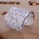Shining Full Rhinestone Adjustable Ring - Silver