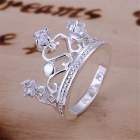 Stylish Women's Crown Shaped Ring - Silver (U.S Size 11)