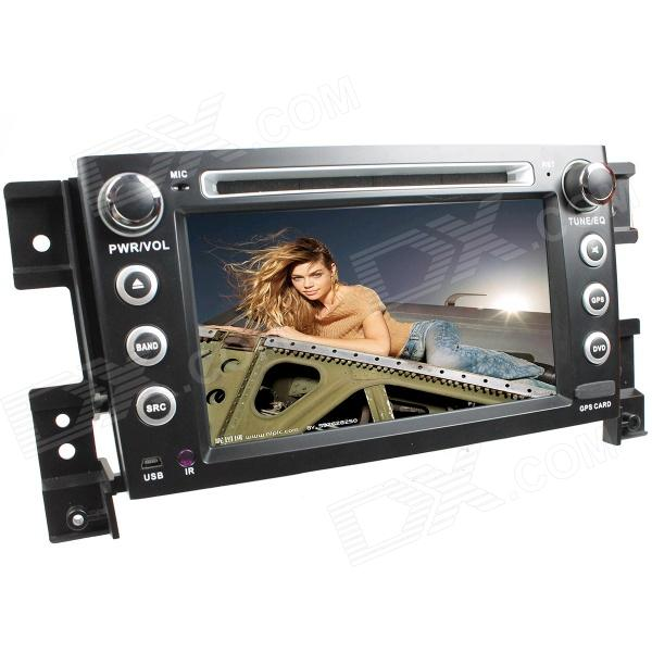LsqSTAR 7 Touch Screen 2-DIN Car DVD Player w/ GPS, AM, FM, RDS, 6CDC, AUX for Suzuki Grand Vita lsqstar 7 touch screen 2 din car dvd player w gps am fm rds 6cdc tv dual zone aux for rav4