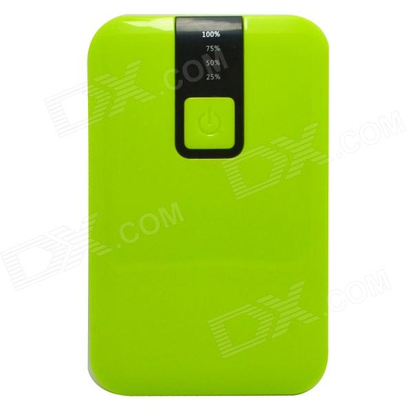 цены  JY-1803 10000mAh External Battery Charger Mobile Power Source Bank w/ LED Flashlight - Green