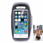 Sport Waterproof Armband Case w/ Back-Hang Headset for IPHONE 5S -Grey