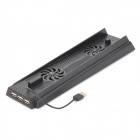 Khps4-05 plastic 3-usb port 2-fan cooling / charging stand for ps4 - black