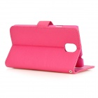 HADA-176 Euramerican Style Protective PU + PC Full Body Case for Samsung Galaxy Note 3 - Deep Pink