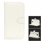 HADA-176 Euramerican Style Protective PU + PC Full Body Case for Samsung Galaxy Note 3 - White