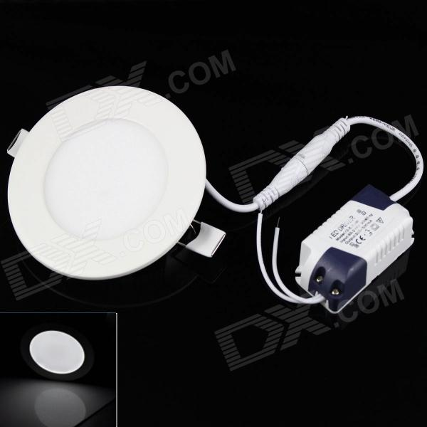 KINFIRE Circular 6W 420lm 6500K 30 x SMD 3528 LED White Light Ceiling Lamp w/ Driver - (AC 85~265V)