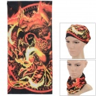 SAHOO 45493-16 Outdoor Sports Multifunction Seamless Polyester Head Scarf - Black + Orange + Yellow