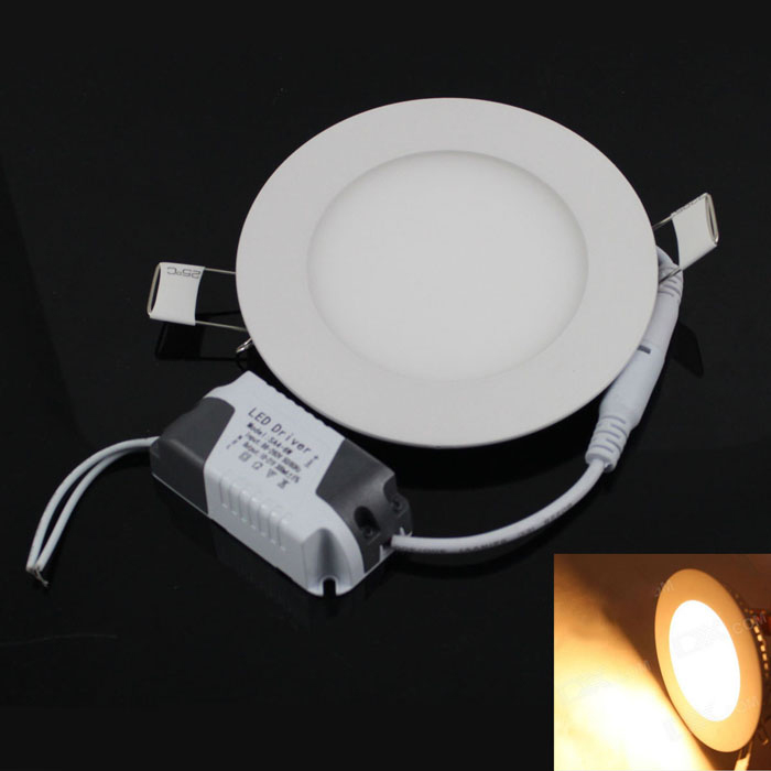 KINFIRE Circular 6W 420lm 3000K 30 x SMD 3528 LED Warm White Light Ceiling Lamp w/ Driver (85~265V) kinfire square shaped 15w 1320lm 75 smd 3528 led white light ceiling lamp w driver ac 85 265v