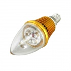 IN-Color High Brightness E14 3W 300lm 3500K LED Warm White Light Tip Bulb - (AC 85~265V)