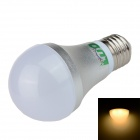 LUO E27 7W 650lm 3000K 10 x SMD 5630 LED Warm White Light Bulb - Silver + White (85~265V)