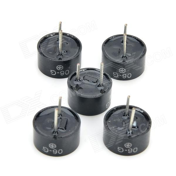 RMG 5V9505 9.5 x 5.0mm Long Sound Electromagnetic Active Buzzer - Black (5 PCS) rmg a501 brass sounding buzzer sheets yellow 10 pcs