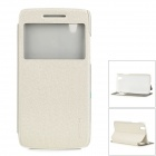 ROCK TZ-LN60 Protective PC + PU Full Body Case w/ Stand / Window for Lenovo VIBE X S960 - White