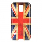 UK Flag Pattern Protective Plastic Back Case Cover for Samsung Galaxy S5 - Red + Blue