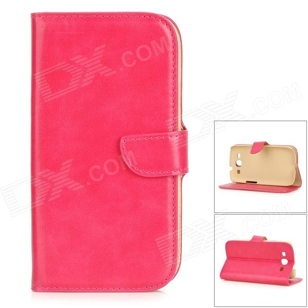 DYTI-006 Protective PU + PC Full Body Case w/ Stand / Card Slots for Samsung i9300 - Deep Pink vg 86m06 006 gpu for acer aspire 6530g notebook pc graphics card ati hd3650 video card