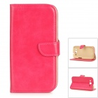 DYTI-006 Protective PU + PC Full Body Case w/ Stand / Card Slots for Samsung i9300 - Deep Pink
